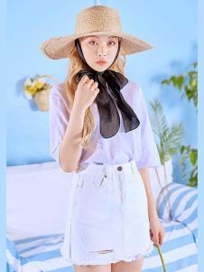 VOL.3女装浅紫雪纺 T恤