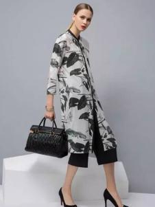迪族女装 山水墨图案外套