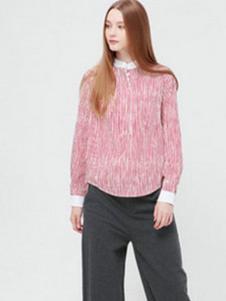 VOL.3女装粉色长袖T恤