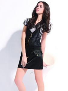 VOL.3女装黑色条纹T恤