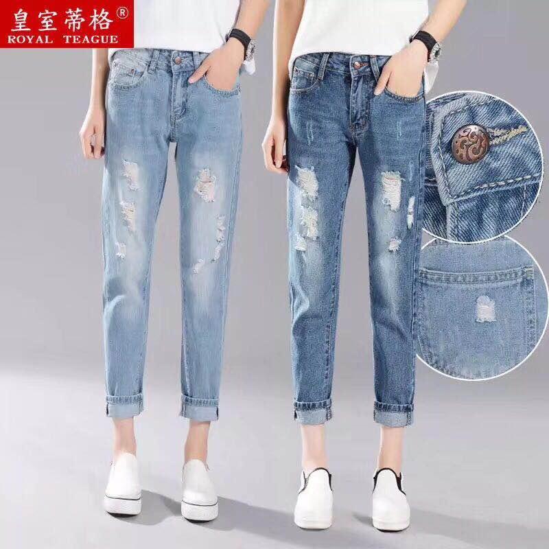 时尚破洞女装牛仔裤供应女装供应