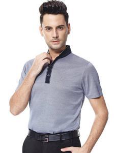 Mr.DT男装灰色短袖衬衫