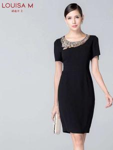 路逸沙·美女装黑色包臀连衣裙