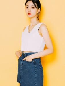 MIXXMIX女装新品白色背心设计套装