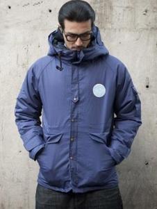 Mr.DT男装蓝色高领外套