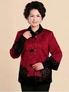 秋之歌女装红色刺绣外套