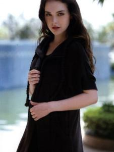 卡亚卡女装黑色五分袖衬衫