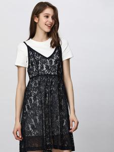 Lavinia女装黑色蕾丝连衣裙