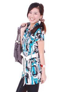 卡亚卡女装几何短袖衬衫
