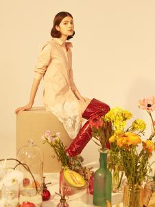 senlinniao女装白色蕾丝衬衫