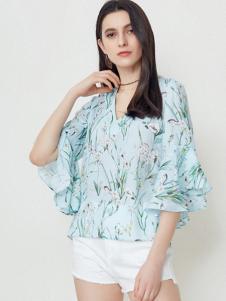 SELECTED(思莱德)女装印花雪纺衫