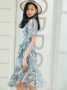 YUSAM雨珊女装18淑女连衣裙
