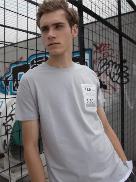2018HS设计师男装灰色T恤