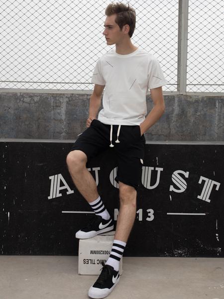 2018HS设计师男装白色T恤
