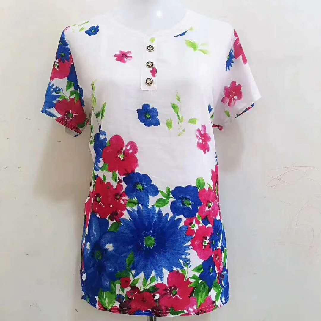 时尚印花女式T恤批发|女装批发