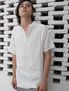HS男装18夏棉麻舒适上衣
