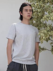 HS男装2018夏灰色T恤