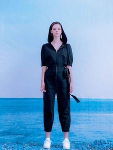 CReil女装黑色绑带休闲套装