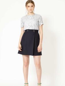 JILL STUART女装灰色蕾丝T恤