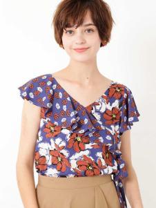 JILL STUART女装印花甜美T恤