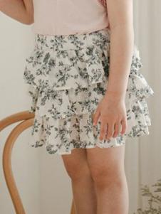 小吕宋童装碎花层叠半身裙