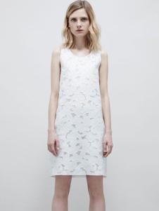 JILL STUART女装白色蕾丝连衣裙