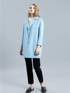 SHELIS女装蓝色西装外套