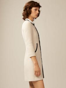maje女装白色针织连衣裙
