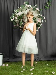 2018水孩儿女童白色连衣裙