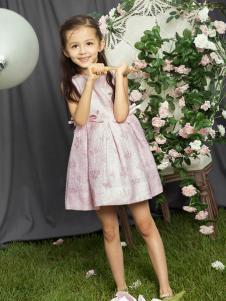 2018水孩儿女童粉色连衣裙