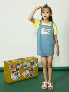 水孩儿女童18夏款背带裙