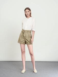 WZWJ未知未觉新款卡其色热裤