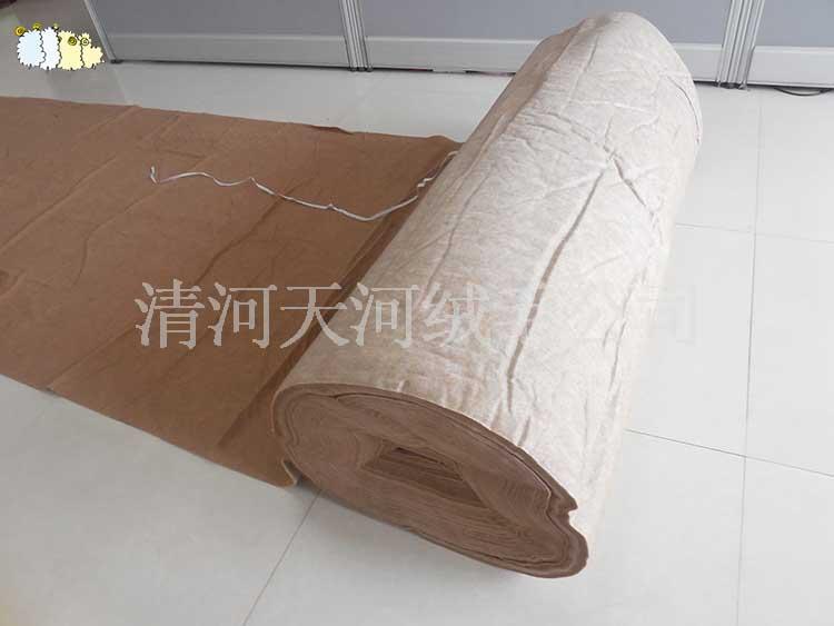 柔顺的驼绒絮片服装垫料供应