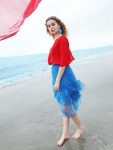欧玥新款欧式时尚蕾丝裙