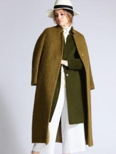 SOFEYA女裝姜黃色長款大衣