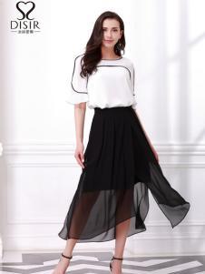 迪丝爱尔18夏新款简约套装裙