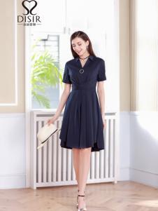 迪丝爱尔18夏收腰优雅连衣裙