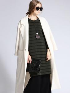 SOFEYA女裝純色長款大衣