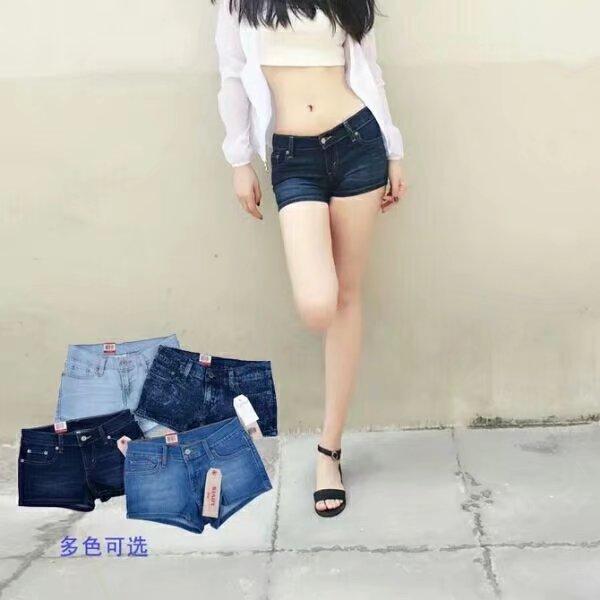 时尚潮流女式牛仔短裤批发女装批发