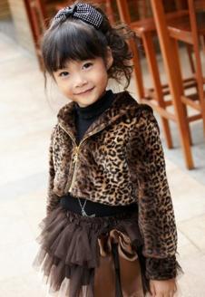 蓝贝壳女童冬款时尚外套