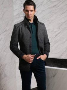 CALOUM男装深灰色商务夹克