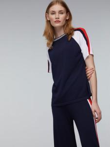玛革诺施女装藏青圆领运动套装