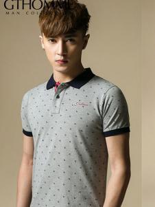 杰克托米男装灰色圆点衬衫