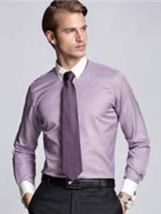CALOUM男装粉色商务衬衫