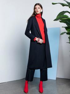 e+新款黑色大衣