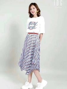 IDG女装千鸟格半身裙