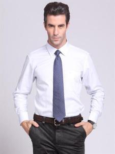 CALOUM男装白色商务衬衫