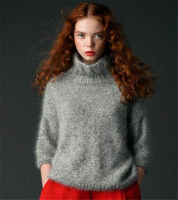 时尚高领女式毛衫毛衣供应