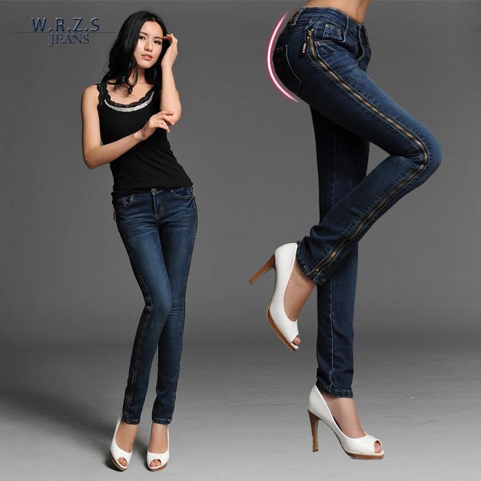 时尚修身女式牛仔裤女装供应
