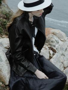 LIULIU MO刘刘墨新款气质休闲黑色外套